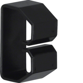 LK370503 HAGER Drahthalteklammer 37050,schwarz Produktbild