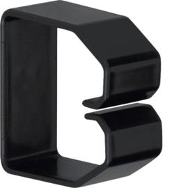LK500503 HAGER Drahthalteklammer 50050,schwarz Produktbild