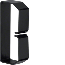 LK501003 HAGER Drahthalteklammer 50100,schwarz Produktbild