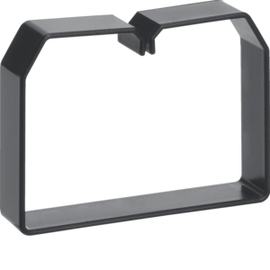 LK751003 HAGER Drahthalteklammer 75100,schwarz Produktbild