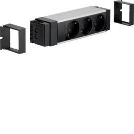 NRS0003B00 HAGER Anschlussblock,3xSTD schw,Klemmtechnik Produktbild