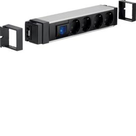 NRS0004D20 HAGER Anschlussblock,1xSch,4xSTD schw,WA-WI Produktbild