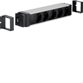 NRS0005D00 HAGER Anschlussblock,5xSTD schw,WA-WI Produktbild