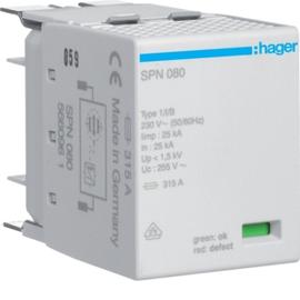 SPN080 HAGER Steckmodul 1P 25kA Typ1 für SPN8xxx Produktbild