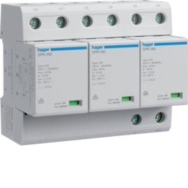SPN800 HAGER Kombi-Ableiter 3P st.75kA Typ1 A TNC Produktbild