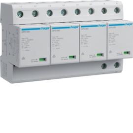 SPN801 HAGER Kombi-Ableiter 4P st.100kA Typ1 A TNS Produktbild