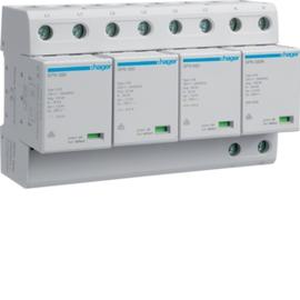 SPN802 HAGER Kombi-Ableiter 4P st.100kA Typ1 A TT Produktbild