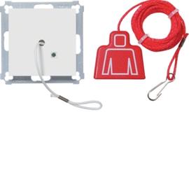 WYK120 HAGER Zugtaster mit Abdeckung,brillantweiß Produktbild
