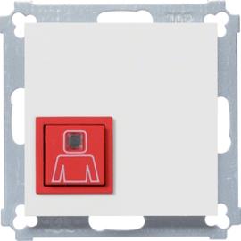WYK160 HAGER Ruftaster mit Abdeckung,brillantweiß Produktbild