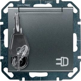 WYS127GS HAGER Steckdose gleiche Schließung, anthrazit Produktbild