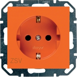 WYS203 HAGER Steckdose ZSV, orange Produktbild