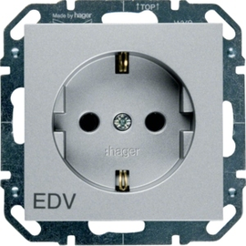 WYS256 HAGER Steckdose EDV, 16 A 250 V~, silber Produktbild