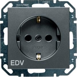 WYS257 HAGER Steckdose EDV, 16 A 250 V~, anth Produktbild