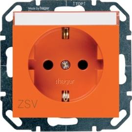 WYS303 HAGER Steckdose ZSV m. Beschriftungsf, orange Produktbild