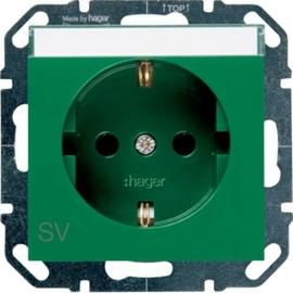 WYS304 HAGER Steckdose SV m. Beschriftungsfeld, grün Produktbild