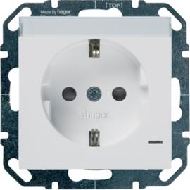 WYS340 HAGER Steckd.,LED,Beschr.,Berührsch., bweiß Produktbild