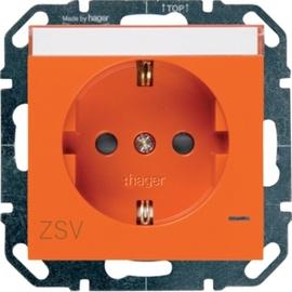 WYS343 HAGER Steckd.,LED,Beschr.Berührsch.,ZSV,orange Produktbild
