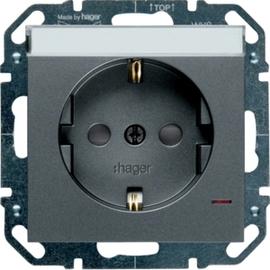 WYS347 HAGER Steckd.,LED,Beschr.,Berührsch.,anthrazit Produktbild