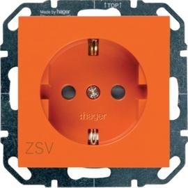 WYS403 HAGER Steckdose ZSV mit Berühr.schutz, orange Produktbild
