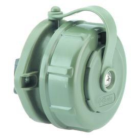 89899895 BALS 7115 Anbausteckdose gerade Schuko grün Flansch DM65x72mm 2f. Bef. Produktbild