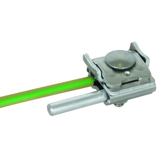 365250 DEHN UNI-Falzklemme NIRO/Al f. Rd 8-10mm Leiter 4-50mm² f.Falze 0,7-8mm Produktbild Front View L
