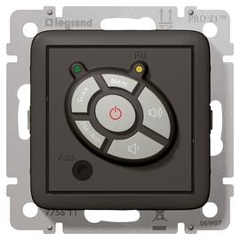 775611 LEGRAND EINS. FM TUNER CREO ANTHRAZIT Produktbild