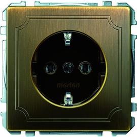 MEG2301-4143 Merten Schuko-Steckdose Antikmessing Produktbild