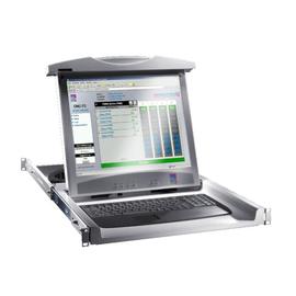 9055410 RITTAL Monitor-Tastatur-Einheit 17Zoll-TFT RAL7035 deutsch 19Zoll-Einbau Produktbild