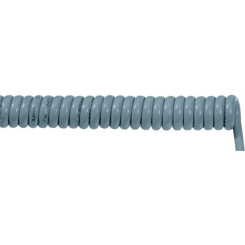 70002641 ÖLFLEX SPIRAL 400 P 5G0,75/1000 PUR-Spiralkabel grau, dehnbar 3000mm Produktbild Front View L