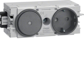 GS11009011 HAGER Kanalsteckdose/Schalter Wago C-Profil gs Produktbild