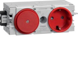GS11003020 HAGER Kanalsteckdose/Schalter Wago C-Profil rot Produktbild
