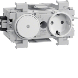GS11019010 HAGER Kanalsteckdose/Schalter Wago frontrastend rw Produktbild