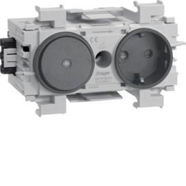 GS11019011 HAGER Kanalsteckdose/Schalter Wago frontrastend gs Produktbild