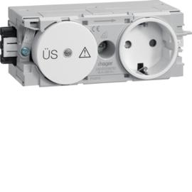 GS12009010 HAGER Kanalsteckdose/Fein- schutz Wago C-Profil rw Produktbild
