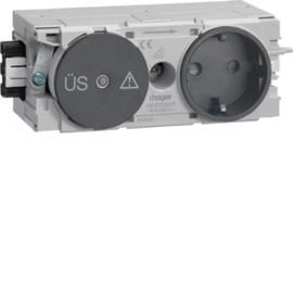 GS12009011 HAGER Kanalsteckdose/Fein- schutz Wago C-Profil gs Produktbild