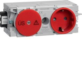 GS12003020 HAGER Kanalsteckdose/Fein- schutz Wago C-Profil rot Produktbild
