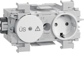 GS12019010 HAGER Kanalsteckdose/Fein- schutz Wago frontrastend rw Produktbild