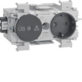 GS12019011 HAGER Kanalsteckdose/Fein- schutz Wago frontrastend gs Produktbild