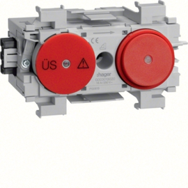 G003013020 HAGER Feinschutz/Schalter Wago Frontrastend rot Produktbild