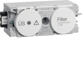 G004009010 HAGER Feinschutz/Störfilter Wago C-Profil rw Produktbild