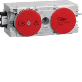 G004003020 HAGER Feinschutz/Störfilter Wago C-Profil rot Produktbild