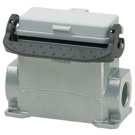 P711616MS WALTHER Sockelgehäuse B16 68mm hoch LVB 1xM25 mit Klappdeckel Produktbild