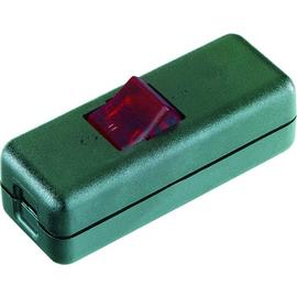 924.327 Interbär Schnur-Zwischenschalter 2 - polig Gehäuse schwarz Wippe rot Produktbild