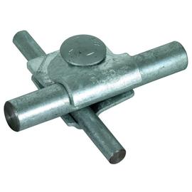 392060 DEHN MV-Klemme St/tZn f. Rd 8-10/16mm m. Flachrundschraube St/Zn Produktbild
