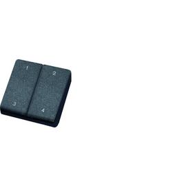 30000237 Eltako FMH4-an Funk-Minihand- Sender anthrazit mit Doppelwippe Produktbild