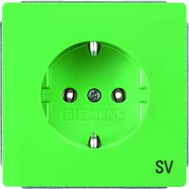 5UB1826 Siemens DELTA STYLE SCHUKO- STECKDOSE 10/16A 250V M.AUFDRUCK SV GRÜN Produktbild