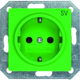 5UB1900 Siemens I-SYSTEM SCHUKO- STECKDOSE GRÜN 55MM X 55MM Produktbild