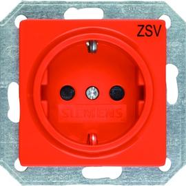 5UB1901 Siemens I-SYSTEM SCHUKO- STECKDOSE ORANGE 55MM X 55MM Produktbild