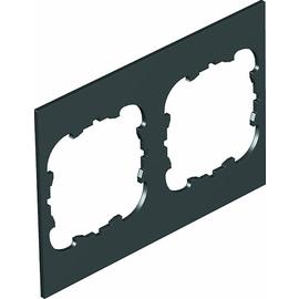 7408252 OBO T4B P3S 9011 Abdeckplatte 2xEK für T4B 110x77mm Polyvinylchlorid g Produktbild