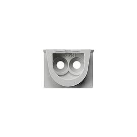 001230 GIRA Kabeleinführung 2fach WG Aufputz Grau Produktbild